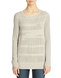 Calvin Klein Jeans Textured Crewneck Sweater Grey