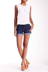 Jolt Rolled Cuff Denim Short Juniors Blue