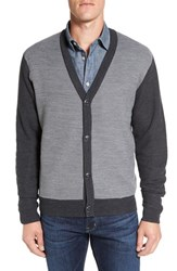 Cutter And Buck Men's Big Tall Cornish Cardigan Charcoal Heather