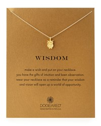 Gold Dipped Wisdom Owl Necklace Dogeared