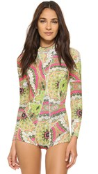 Cynthia Rowley Paisley Wetsuit Pink Paisley