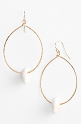 Ki Ele 'Makapu'u' Puka Teardrop Earrings Gold White