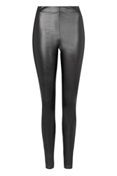 Topshop Wet Look Leggings Black