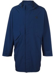 Paul Smith Ps By Hooded Zip Up Coat Blue