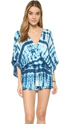 Young Fabulous And Broke Ashley Romper Cobalt Snake