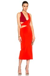 Dion Lee Belted Harness Dress In Red