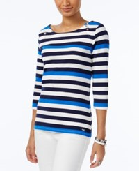 Tommy Hilfiger Ansley Boat Neck Top Snow White