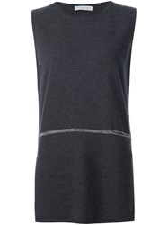 Fabiana Filippi Longline Tank Top Grey