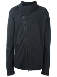 Lost And Found Ria Dunn Off Centre Zip Jacket Grey