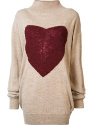 Vivienne Westwood Anglomania Heart Jumper Nude And Neutrals