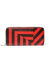Marc By Marc Jacobs Striped Textured Leather Wallet