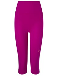 Lucas Hugh Violet Technical Knit Capri Leggings Pink