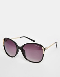 Esprit Oversized Sunglasses With Gold Arm Black