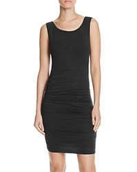 Velvet By Graham And Spencer Shirred Tank Dress 100 Bloomingdale's Exclusive Black