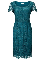 Jacques Vert Lace Layer Dress Mid Green