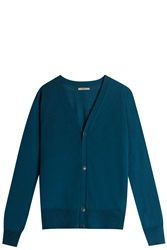 Boglioli Virgin Wool Cardigan Blue