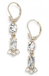 Marchesa Women's Crystal Drop Earrings