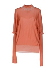 Class Roberto Cavalli Knitwear Turtlenecks Women Salmon Pink