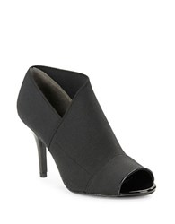 Adrianna Papell Aneva Open Toe Stretch Booties Black