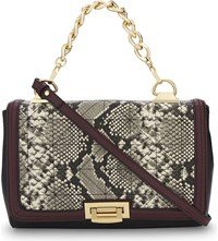 Aldo Cutigliano Python Texture Faux Leather Messenger Bag Natural