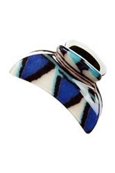 Laminated Medium Jaw Clip Blue