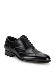 Tom Ford Italian Leather Wingtip Dress Shoes Black
