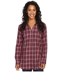Royal Robbins Beechwood Wool Blend Long Sleeve Beet Women's Long Sleeve Button Up Red