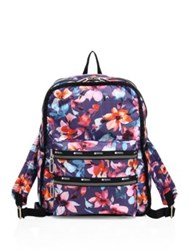 Le Sport Sac Functional Floral Print Nylon Backpack Aurora
