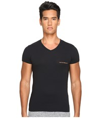 Emporio Armani Stretch Cotton Color Multipack V Neck Black