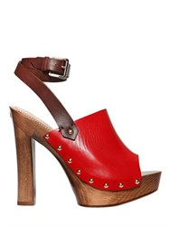 Dsquared 140Mm Leather Sandals