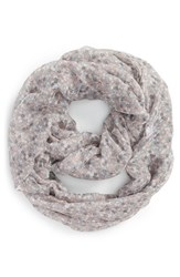 Junior Women's Bp. Woven Floral Print Infinity Scarf Grey