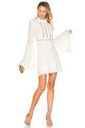 For Love And Lemons Willow Bell Sleeve Dress White