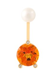 Delfina Delettrez 'Magic Triangle Piercing' Diamond Earring Yellow And Orange
