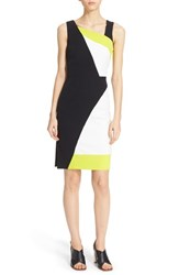 Women's Milly 'Cady' Graphic Colorblock Sheath Dress White