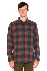 Filson Vintage Flannel Work Shirt Red