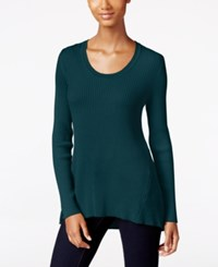 Styleandco. Style Co. Long Sleeve Scoop Neck Sweater Only At Macy's New Rustic Teal