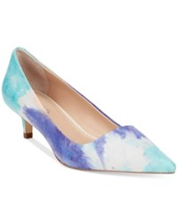 Charles By Charles David Drew Kitten Heel Pumps Women's Shoes Ocean Tye Dye
