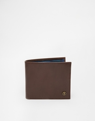 Fred Perry Leather Billfold Wallet Brown