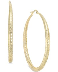 Styleandco. Style And Co. Gold Tone Large Diamond Cut Hoop Earrings Only At Macy's