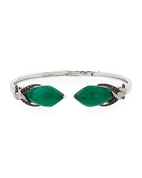 Stephen Webster Faceted Quartz And Green Agate Open Bangle