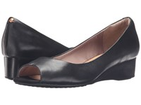 Hush Puppies Bryce Admire Black Leather Women's Wedge Shoes