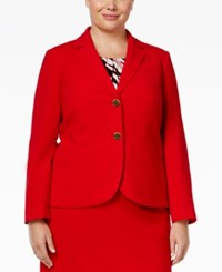 Calvin Klein Plus Size Two Button Jacket Red