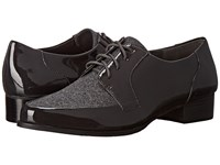 Tahari Leeza Charcoal Grey Patent Felt Women's Shoes Gray