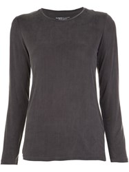 Majestic Filatures Round Neck Jersey Grey