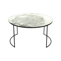 Amara Iridescent Glass Round Table Side Table