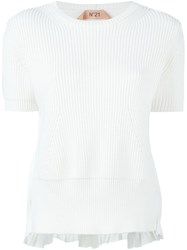 N 21 N.21 Short Sleeve Sweater White