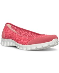 Skechers Women's Gowalk Flighty Memory Foam Walking Sneakers From Finish Line Coral