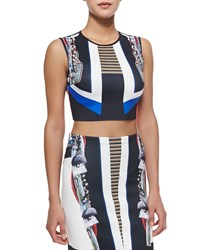 Clover Canyon Ancient Parallels Sleeveless Crop Top Multi