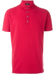 Fay Classic Polo Shirt Red