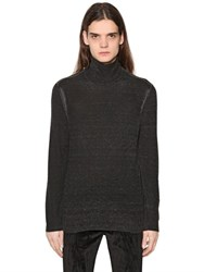 John Varvatos Washed Silk And Cashmere Knit Sweater